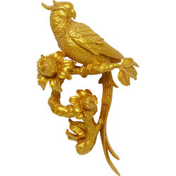 Wall Decoration Parrot Gold 50cm