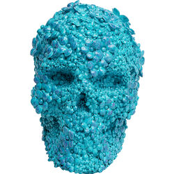 Money Box Skull Flowers Light Blue
