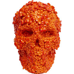 Money Box Skull Flowers Orange