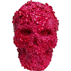 Money Box Skull Flowers Pink