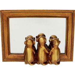 Deco Tray Monkeys Mirror