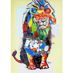 Picture Touched Wildlife  Lion 70x100cm