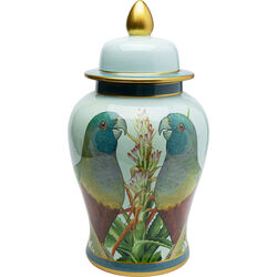 Deco Jar Parrot Couple 48