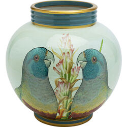 Deco Jar Parrot Couple 26cm