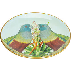 Deco Plate Parrot Couple Ø35