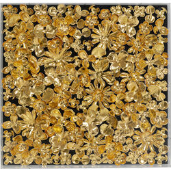 Deco Frame Gold Flower 60x60cm