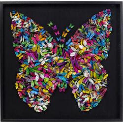Deco Frame Farfalla 120x120cm
