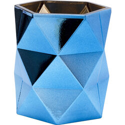 Tealight Holder Rhomb Blue 11
