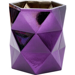 Tealight Holder Rhomb Purple 11cm