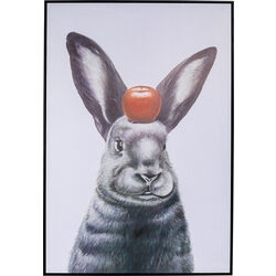 Picture Frame Art Apple On A Bunny 120x80cm