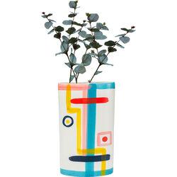 Vase Art Face Colore Flat 31