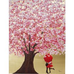 Cuadro Touched Flower Couple oro rosa 160x120cm