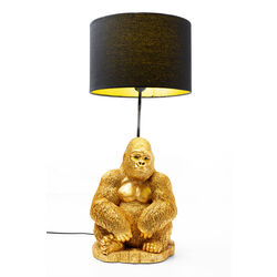 Table Lamp Animal Monkey Gorilla Gold