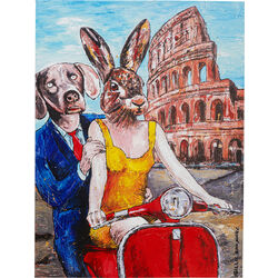 Picture Touched Animal Pair Rome 80x60
