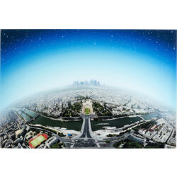 Picture Glass Planet Paris 100x150
