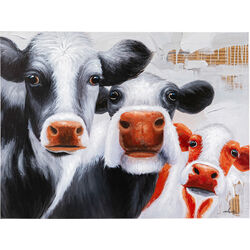 Picture Touched Snoopy Cows 120x90