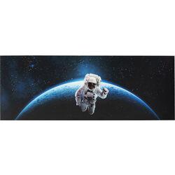 Картина стеклянная Man In Space 80x240cm