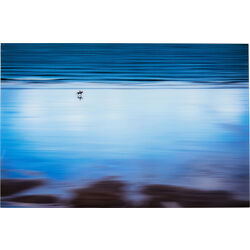 Picture Glass Lonely Beach 80x120