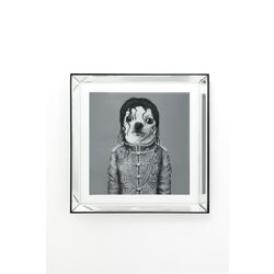 Picture Frame Mirror King Dog 60x60cm