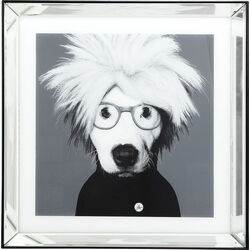 Picture Frame Mirror Artist Dog 60x60cm