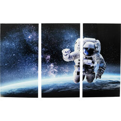 Picture Triptychon Man in Space 160x240