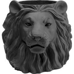 Deco Planter Lion Black