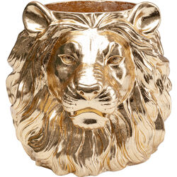 Deco Planter Lion Gold