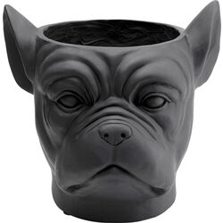 Deco Planter Bulldog Black