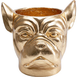 Deco Planter Bulldog Gold