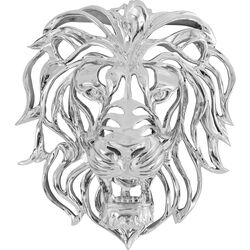 Wall Decoration Lion Silver