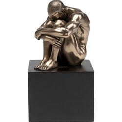 Objeto deco Nude Man Thinking 10cm
