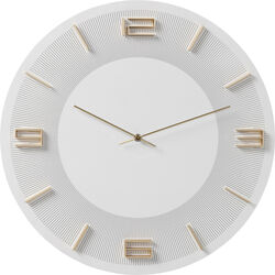 Wall Clock Leonardo White/Gold