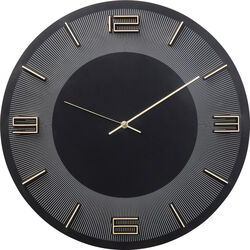 Wall Clock Leonardo Black/Gold 50