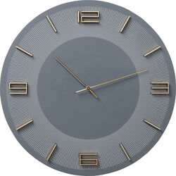 Wall Clock Leonardo Grey/Gold
