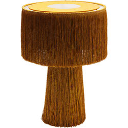 Table Lamp Fringes Orange