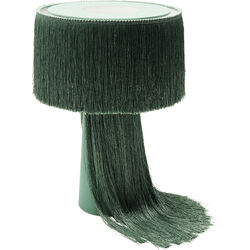 Table Lamp Fringes Green