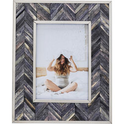 Frame Chevron Grey 13x18