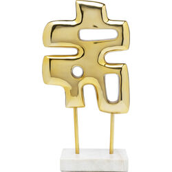 Deco Object Abstracto Puzzle Gold