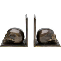 Bookend Skull Antique (2/Set)