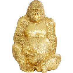 Deko Figur Gorilla Gold XXL 249