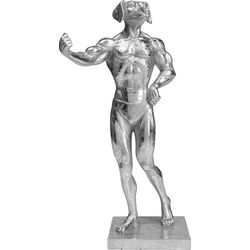 Deco Object  Muscle Dog Silver