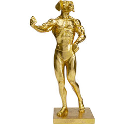 Deco Object  Muscle Dog Gold