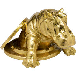 Deco Object Struggling Hippo Gold