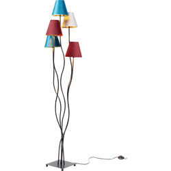 Floor Lamp Flexible Velvet Black Cinque