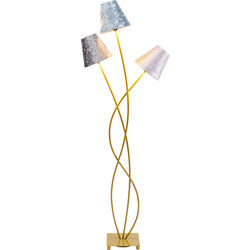 Floor Lamp Flexible Velvet Brass Tre