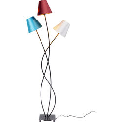 Floor Lamp Flexible Velvet Schwarz Tre