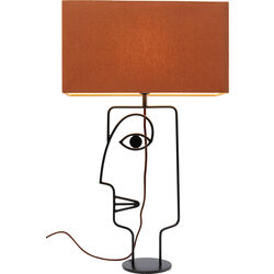 Table Lamp Face Wire Orange