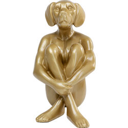Deco Object Sitting Dog Gold 80