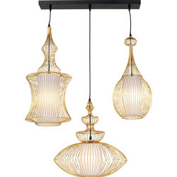 Pendant Lamp Swing Iron Tre Gold