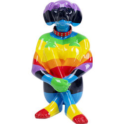 Deco Figurine Sitting Dog Rainbow 80